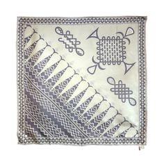 Vintage EMILIO PUCCI 1970s fish tail geo woven motif scarf 36