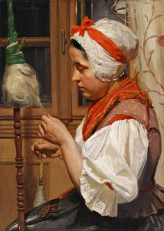 Priadka by Jozef Hanula, 1904. Slovak national gallery, CC BY