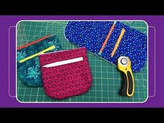 How to Sew a Duo Zipper Pouch with Crafty Gemini - YouTube