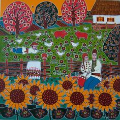 Painting by Ukrainian artist Svitlana Starodubtseva - Картина української художниці Світлани Стародубцевої.