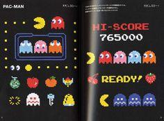 Makoto Ozu's Game & Stitch Cross Stitch Designs by pomadour24