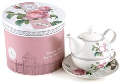 KEW Redoute Classic CHINA 'Tea For One' POT CUP SAUCER | eBay This might be a nice sort of thing - a teapot and cup for one - just right for Sarah, perhaps?