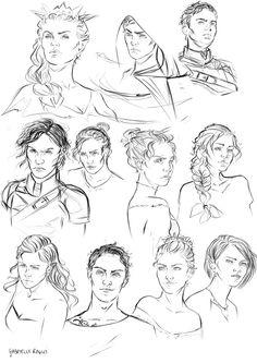 ACOTAR doodles by Gabrielle Ragusi