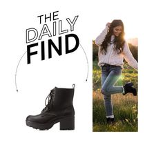 """Daily Find: Charlotte Russe Combat Boots"" by polyvore-editorial ❤ liked on Polyvore featuring Charlotte Russe and DailyFind"