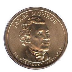 2008 D James Monroe Presidential Dollar UNC