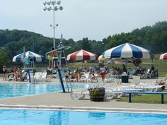 Cranberry Waterpark - the kid love it here and it's close to home ...and I dig those huge umbrellas!