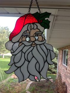 Santa stained glass
