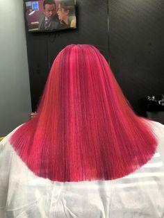 Sleek Hairstyles, Baddie Hairstyles, Black Girls Hairstyles, Dye My Hair, New Hair, Curly Hair Styles, Natural Hair Styles, Straight Ponytail, Dyed Natural Hair