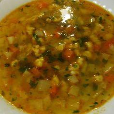 Karalábéleves vajgaluskával Recept képpel - Mindmegette.hu - Receptek Salsa, Beans, Soup, Mexican, Vegetables, Cooking, Ethnic Recipes, Food And Drinks, Kitchen