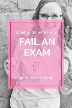 Did you fail an exam in nursing school? Don't let it ruin your grades! You need to do this after failing a test. What nursing students should do after taking a test. Set yourself up for success as a nursing student and get great grades thanks to these insider nursing student hacks. #NursingStudents #NursingSchool #CollegeExams Take That, Let It Be, Nclex, School Organization, Nursing Students, Organizer, Clinic, Fails, School Organisation