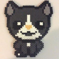 Guppy cat (The Binding of Isaac) perler beads by tys_stuff