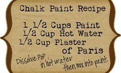 The Vintage Farmhouse: Homemade Chalk Paint Pros & Cons