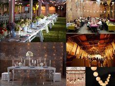 Warehouse wedding decor