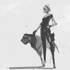 character sketches, richard anderson on ArtStation at https://www.artstation.com/artwork/8rAGE