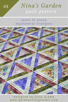 Use this triangle patchwork quilt pattern and learn to piece equilateral…