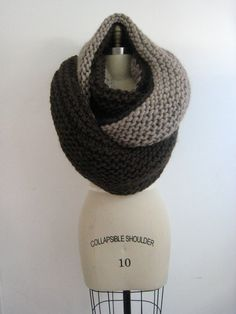 chunky scarf/cowl natural colours