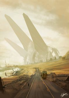 One way to dust city, Thibault Girard on ArtStation at https://www.artstation.com/artwork/one-way-to-dust-city
