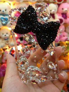 handyhulle selbst gestalten handy hullen mit diamanten gestalten