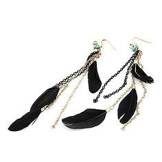 elegantes aretes de plumas de aleación de cadena – CLP $ 1.848