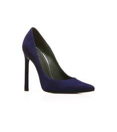 QUEEN | Stuart Weitzman #shoes #heels #pumps #blue #suede #style #sexy #chic #alittleobsessedwithshoes http://sweitzman.com/QUEEN_INK