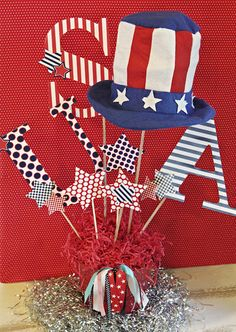 Amanda's Parties TO GO: July 4th Centerpiece with free printables
