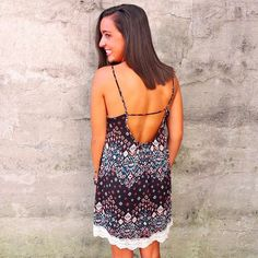 The scoop back on this dress is too cute! We love being able to show off our summer tan. You can snag this gem online or in stores today! #WillyJays #KingStreet #Charleston #ootd