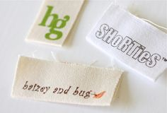 A post all about having tags made for my homemade sewing stuff. Sewing Labels, How To Make Labels, Fabric Scissors, Personalized Labels, Sewing For Kids, Hang Tags, Paper Cutting, How To Introduce Yourself, Sewing Projects