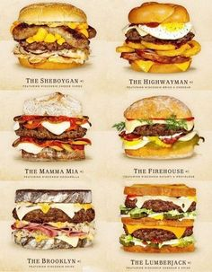 Burger Menu, Gourmet Burgers, Burger Recipes, Seafood Recipes, Beef Recipes, Cooking Recipes, Burger Bar, Hamburgers, Junk Food