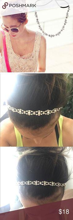 Elastic rhinestone headband Never worn. Very cute headband. Accessories Hair Accessories