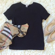 Classic Black T-shirt! Classic Black T-shirt! Perfect with jeans or a pencil skirt  no tears or stains! Other items in cover photo not for sale. Jones New York Tops Tees - Short Sleeve