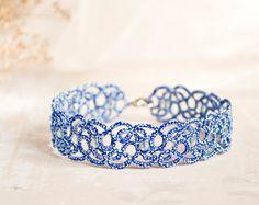 Something blue anklet blue lace anklet something blue