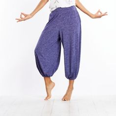 Flowy harem pants that are as chic as they are sweat-wicking.