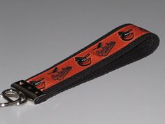Baltimore Orioles Key Fob Wristlet by OnceDesignedbyDianne on Etsy