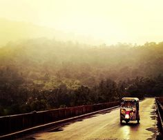 An adventure which traverses India in a three-wheeled vehicle with a two-stroke engine: The Auto Rickshaw Car Wheels, Mumbai, Engineering, Challenges, Country Roads, Train, Adventure, Railroad Ties, Bombay Cat
