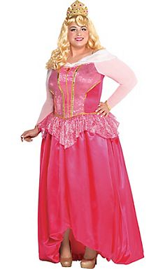 Adult Aurora Costume Couture Plus Size - Sleeping Beauty @ Party City