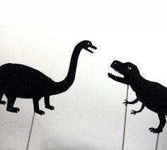 Dinosaur shadow puppet