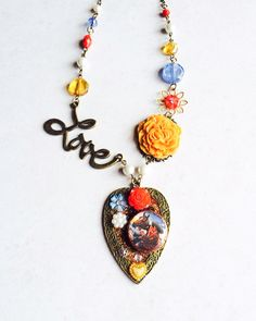 A personal favorite from my Etsy shop https://www.etsy.com/listing/214003719/love-photo-assemblage-necklace-heart