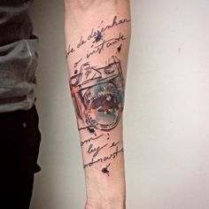 #tattoofriday - Grunge art por Cássio Magne Schneider