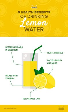 5 health benefits of drinking lemon water