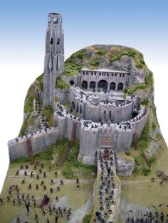 Helm's deep - LOTR.  I'm making this with Hirst Arts molds right now.  Hope it ends up like the model in the pic!