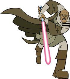 Mace Windu from the animated series Star Wars: Clone Wars.