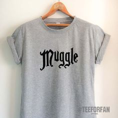 Harry Potter Shirts Harry Potter Merchandise Muggle T-Shirts Clothes A – TeeForFan