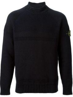 STONE ISLAND open knit detail sweater