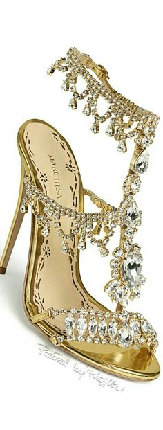 marchesa bling t-strap high heels
