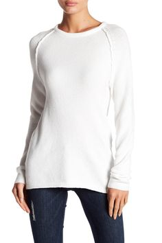 Moto Exposed Sleeve Knit Sweater