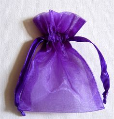 Purple Organza 3 x 4 Favor Bags 24 pack $4.56 ($.19 each) - Click to enlarge