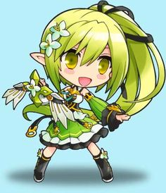 ELSWORD Online – Free Action MMORPG Elsword Online, Eve Best, Elsword Game, Anime Chibi, Green Hair, Action, Games, Sweet, Cute