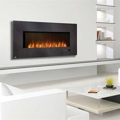 Give them a hot gift! Napoleon Grills Slimline Series Linear Wall Mount Fireplace #ATGStores http://electricfireplaceheater.org/best-electric-fireplace-heaters/72-best-wall-mounted-electric-fireplace-reviews.html