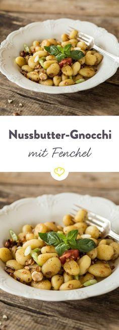 Gnocchi mit Fenchel, Sellerie und gerösteten Haselnüssen