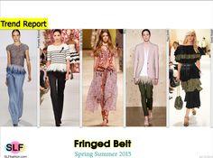 Fringed Belt Trend for Spring Summer 2015. Pamella Roland, Oscar de la Renta, Etro, Paul Smith, and Sonia Rykiel #Spring2015 #SS15 #Trends15